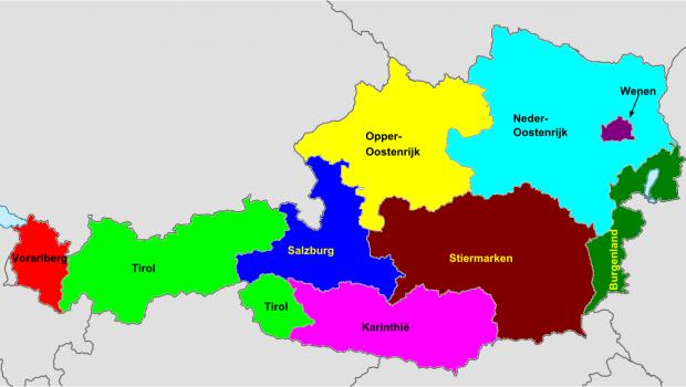 Schoolvakantie regio's Oostenrijk